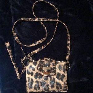 Print, cross body purse